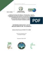 Diversidad Biológica Del Departamento de Guatemala . Liza Ixcot Yon 2006