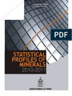 Statistical Profiles of Minerals2010-11