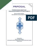 Proposal Pengadaan Mesin Potong Rumput