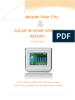 Adelaide Solar City Solar In Home Display Report