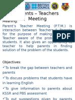Parents – Teachers Meeting