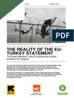 The Reality of the EU-Turkey Statement. The Greek laboratory