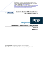 Operations Maintenance Manual