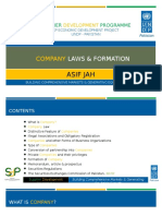 Company Law & Formation - Asif Jah