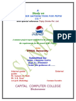 59445027 Pepsi Project on Marketing for Mba