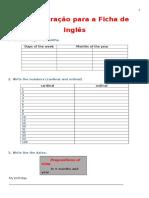 Preparação Para a Ficha de Inglês