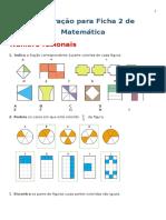 Preparação Para Ficha 2 de Matemática