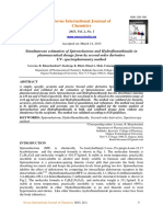 Simultaneous estimation of spironolactone and hydroflumethiazide in pharmaceutical dosage form by second order derivative UV spectrophotometry method.pdf
