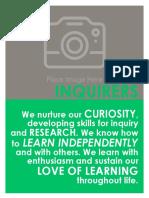 Learner Profile Blank Template