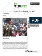 Humanitarianism in Sri Lanka