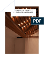 Design And Construction  Company Profile
