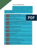 50 Most Common Proverbs_print de 2 Ori
