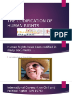 the codification of human rights