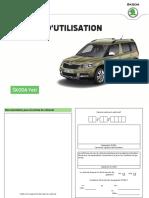 Notice Utilisation SKODA Yeti 05 2016