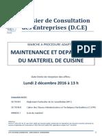 Consultation Maintenance Matériel Cuisine