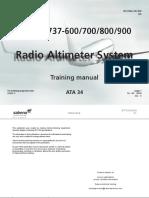 34 Radio Altimeter System