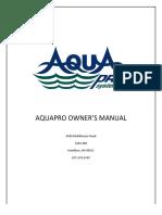 Aquapro Manual