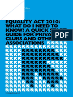 equality act 201 guide for clubs 1