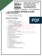 Online Spring  Training in Hyderabad