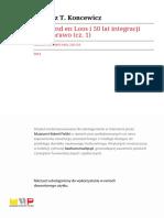Koncewicz, Van Gend en Loos i 50 Lat Ingergracji Przez Prawo Cz 1