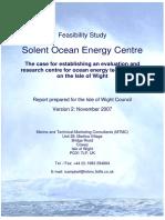 Marine Energy Centre Report 16 Nov 07