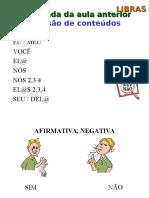 Apres 3 Tempo e Verbos - Letras