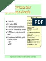 Protocolos Para Aplicaciones Multimedia