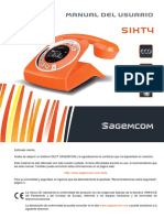 DECT Sagemcom SIXTY - Web User Guide ES