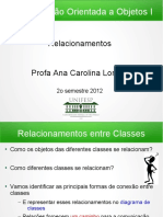 Aula 5 - Relacionamentos Classes COO