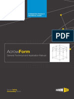 ACROWFORM Product Guide
