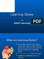 Learning Styles - Train the Trainer