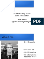 A Different Way to Use Boost Serialization - Jens Weller - CppCon 2015