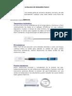 Catalogo de Sensores Pasco