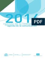 Agenda de la comunicación 2016