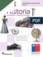 Historia, Geografía y Ciencias Sociales 1º medio - Docente tomo 1.pdf