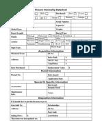 Firearm Fill in Data Sheet