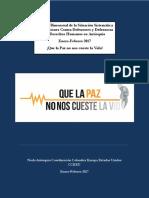 Análisis Bimensual de La Situación Sistemática de Agresiones Contra Defensores y Defensoras Derechos Humanos en Antioquia. Enero Febrero