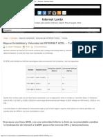 Mejorar Estabilidad y Velocidad del INTERNET ADSL -- Tutorial ~ Internet Lento