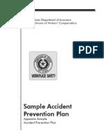 Sample Accident Prevention Plan