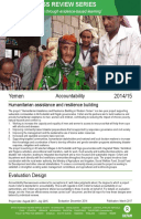 Accountability Review in Yemen: Humanitarian assistance and resilience building