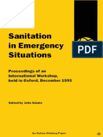 Sanitation in Emergency Situations