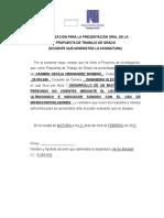 Autorización Del Docente Propuesta de Proyecto de Investigacion