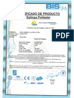 Certificados Eslingas