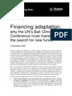 Financing Adaptation