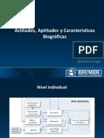 Introducción a las Actitudes, Aptitudes y Características