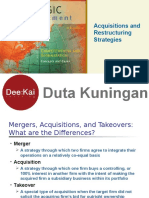 1. Strategic Perspective on Merger-Acquistions