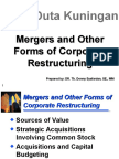 3. Merger and Other Forms of Corporate Restructuring