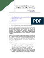 La Eficacia Comunicativa de Los Sistemas Multimedia Educativos