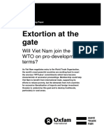 Extortion at the gate