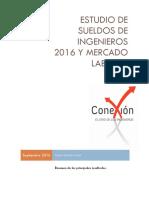Estudio de Sueldos Conexión Ingenieros 2016